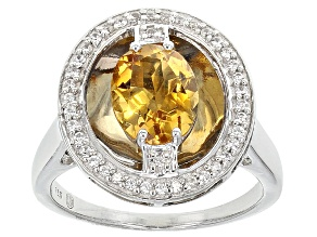 Yellow Citrine Sterling Silver Ring 1.74ctw