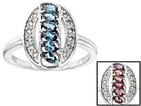 Lab Created Color Change Alexandrite Sterling Silver Ring .63ctw