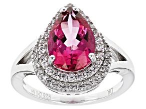 Pink Topaz Sterling Silver Ring 3.59ctw