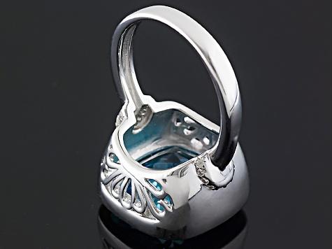 Sky Blue Topaz Sterling Silver Ring 12 90ctw