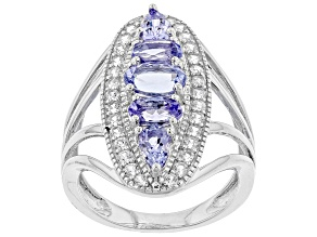 Blue Tanzanite Sterling Silver Ring 1.75ctw