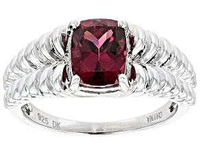 Purple Rhodolite Sterling Silver Ring 1.49ct
