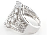 White Zircon Sterling Silver Ring 2.56ctw
