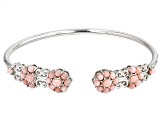 Pink Peruvian Opal Sterling Silver Bangle Bracelet