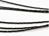 Black Spinel Sterling Silver Necklace Approximately