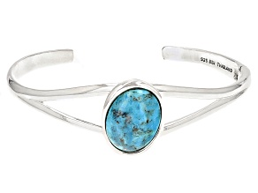 Blue Turquoise Sterling Silver Cuff Bracelet