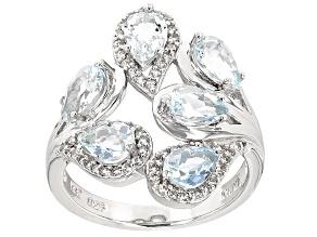 Blue Brazilian Aquamarine Sterling Silver Ring 2.67ctw