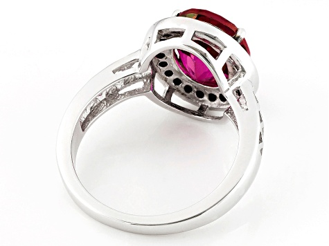 Peony™ Mystic Topaz® Sterling Silver Ring 4.10ctw