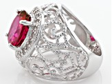 Peony™ Topaz Sterling Silver Ring 4.13ctw