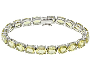 Canary Yellow Quartz Sterling Silver Bracelet 39.74ctw