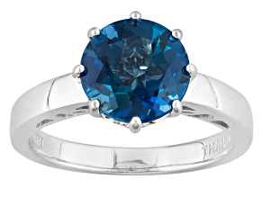 London Blue Topaz Sterling Silver Ring 2.55ct