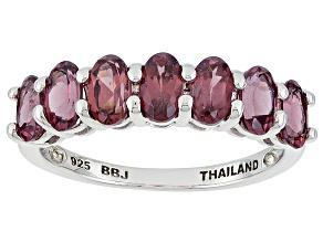 Purple Rhodolite Sterling Silver Ring 1.86ctw