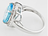 Sky Blue Topaz Sterling Silver Ring 8.89ctw