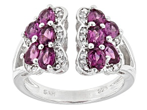Purple Rhodolite Sterling Silver Ring 2.39ctw