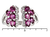 Raspberry Color Rhodolite Sterling Silver Ring 2.39ctw