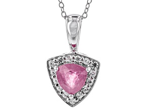 Pink Mahaleo Sapphire Sterling Silver Pendant With Chain 1.84ctw