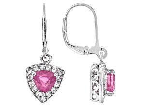 Pink Mahaleo Sapphire Sterling Silver Earrings