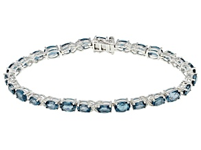 London Blue Topaz Sterling Silver Bracelet 16.24ctw
