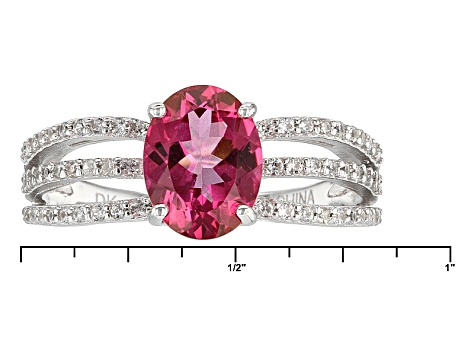 Pink Danburite Sterling Silver Ring 1.79ctw