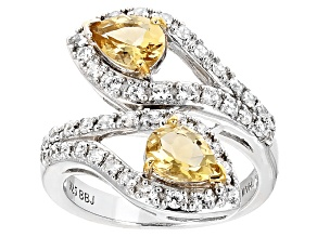 Yellow Beryl Sterling Silver Ring 1.80ctw