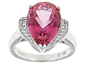 Pink Topaz Sterling Silver Ring 5.29ctw