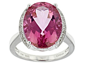 Pink Topaz Sterling Silver Ring 9.93ctw