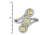Yellow Beryl Sterling Silver Ring 1.25ctw