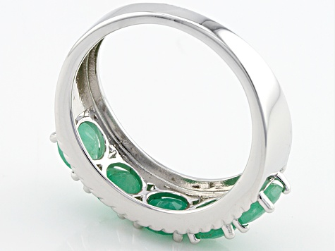 Green Emerald Sterling Silver Ring 2.00ctw