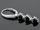 Black Spinel Rhodium Over Sterling Silver Earrings 3.30ctw