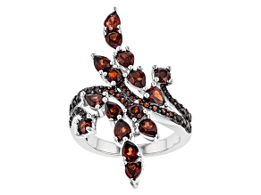 Red Garnet Sterling Silver Ring 3.62ctw