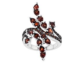 Red Garnet Sterling Silver Ring 3.62ctw