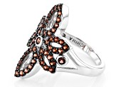 Red Garnet Sterling Silver Ring 1.23ctw