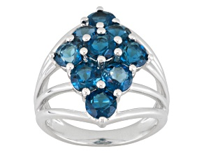 London Blue Topaz Sterling Silver Ring 4.52ctw.