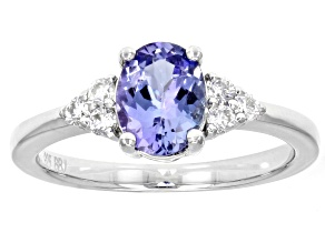 Blue Tanzanite Sterling Silver Ring 1.25ctw