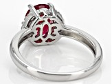 Red Ruby Sterling Silver Ring 2.41ctw