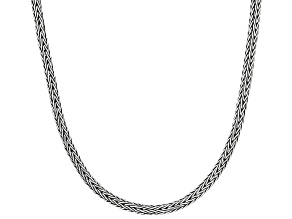 Women's Wheat Chain Necklace Sterling Silver 18 inch