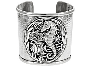 Sterling Silver Seahorse Cuff