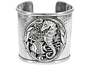 Sterling Silver Seahorse Cuff