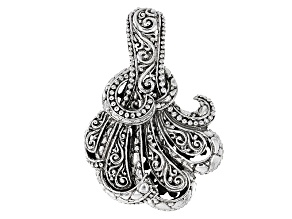 Sterling Silver Filigree Fan Pendant