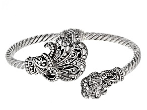 Sterling Silver Filigree Fan Bracelet