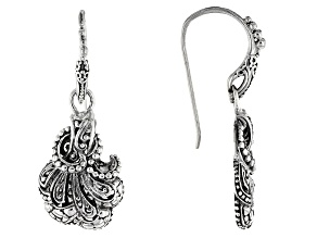 Sterling Silver Filigree Fan Earrings