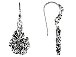 Sterling Silver Filigree Fan Earrings