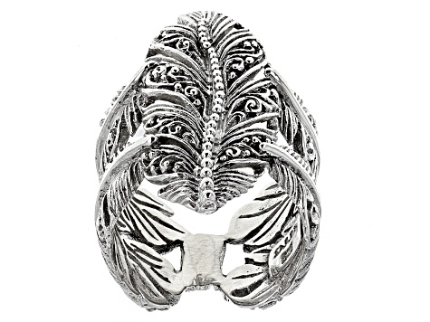 Sterling Silver Filigree Feather Ring