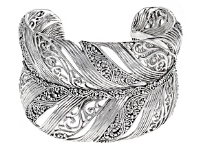 Sterling Silver Filigree Feather Bracelet
