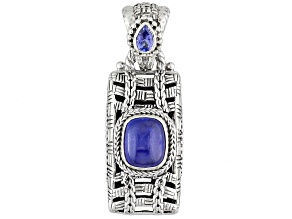 Blue Tanzanite Sterling Silver Pendant .37ct