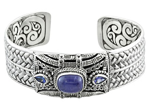 Blue Tanzanite Sterling Silver Bracelet .74ctw
