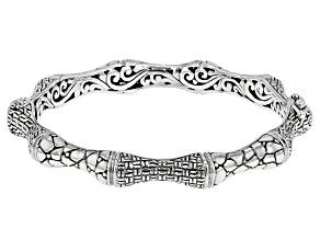 Sterling Silver Watermark Bamboo Bracelet