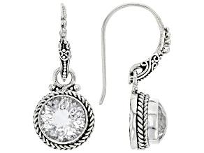 White Quartz Silver Earrings 5.14ctw