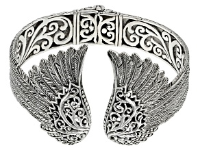 Sterling Silver Angel Wings Cuff Bracelet