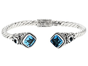 Swiss Blue Topaz Silver Bracelet 7.74ctw